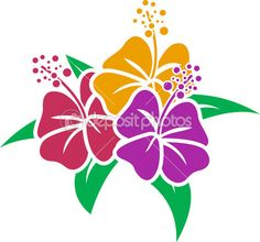 estêncil hibisco — Imagem Stock #27648087
