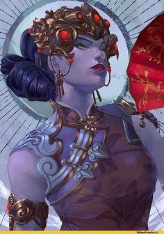 Overwatch - Widowmaker Chinese new year skin Overwatch Widowmaker, Overwatch Memes, Overwatch Fan Art, Overwatch Drawings, Chun Li, Video Game Art, Video Games, Geeks, Character Art