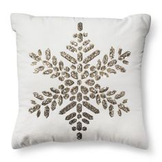 Threshold™ Snowflake Sparkle Pillow - Gold -- $24.99 TARGET in-store pickup only