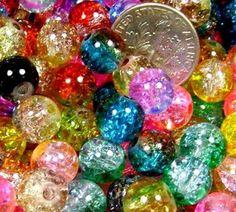 Acrylic Faceted Round Beads 11mm Mixed BULK 3 Packs x 10 Pcs Art Hobby Jewellery