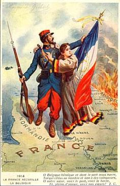 FRANCE WW1 Great War Postcards - Original pictures of the First World War