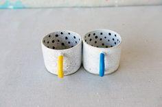 Recreation Center polka dot mugs