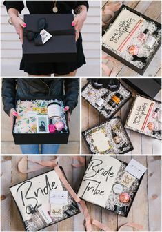 """Give something pretty! Little Black Box #giftboxes are the perfect gift for bridesmaids or or for the bride! The """"Bride"""" box would be awesome for a bachelorette weekend gift :-)"""