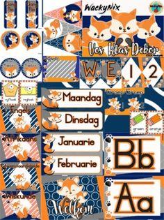 WackyNix Vos Klas Dekor by WackyNix   Teachers Pay Teachers Presentation Format, Hall Pass, Welcome Banner, Class Decoration, The Freedom, New Theme, Afrikaans, Months In A Year, Teacher Newsletter
