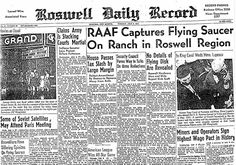 The Roswell Daily Record (July 6, 1947): RAAF Captures Flying Saucer on Ranch in Roswell Region