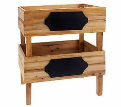 The cutest little set of 2 stacking crates with Chalkboard on the front to mark the contents!!! <3 these!  :-)