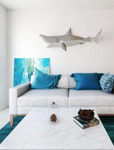 XL Shark grey & white | Papertrophy