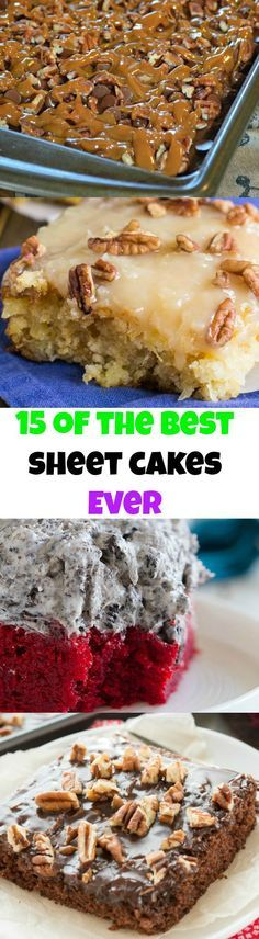 15 Sheet Cakes that are Impossible to Resist! Thanksgiving Desserts Christmas Desserts