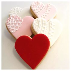 Valentines cookies by Sweet Table Australia