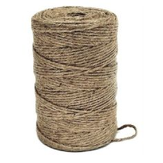 75m Spools of Jute Twine. Ideal for general garden use and for crafts. Use for wall hangings and craft ideas. 2 ply string.