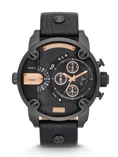 Diesel Diesel DZ7291 Black / Black Leather Analog Quartz Men's Watch