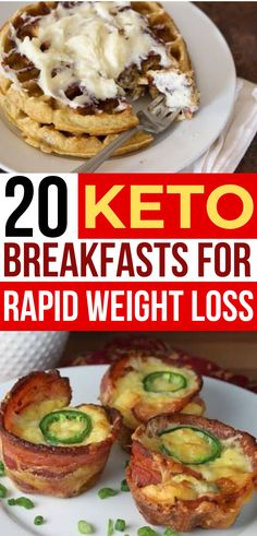 Love these keto breakfasts!! ❤️ Now I have so many ketogenic diet breakfast recipes!! Yes, you can have waffles & pancakes on your low carb diet!!! YUMMY! #keto #ketodiet #ketogenic #ketogenicdiet #breakfast