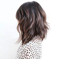 Cool brunette balayage