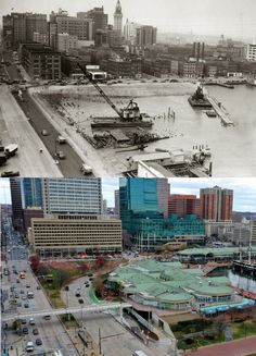 Inner Harbor then and now Baltimore Inner Harbor, Baltimore City, Baltimore Maryland, Baltimore Ravens, Towson University, University Of Maryland, Chesapeake Bay, Historical Photos, Old Things