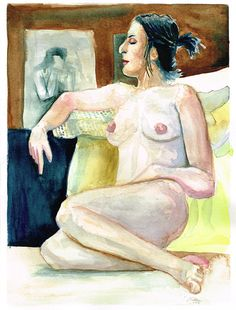 Watercolor Nude by christiannebenedict on Etsy