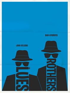 The Blues Brothers minimalist typographic poste