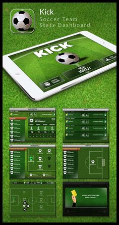 KICK- Soccer Team Stats Dashboard. // 2015 - Hadyi Design Soultions + 99UNO