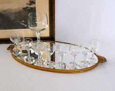 Vintage Sherry Glasses, Pressed Glass Stemware, Barware, Port Glasses, Liqueur Glasses, Hostess Gift, Cordial Glassware, Miniatures - Edit Listing - Etsy