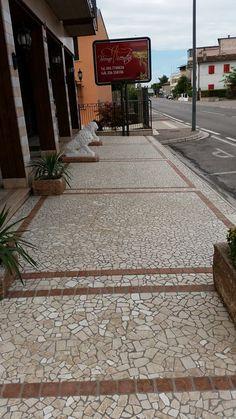 Pavimento in palladiana marmo per esterno botticino e rosso asiago 2 - Palladiana Marmo