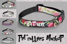 Mockup pet collars by Aleksandra Slowik on @creativemarket