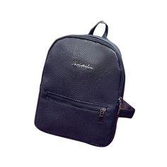 2016 Fashion Women Backpacks Small PU Leather Femme Girls School Bags Mini Womens Printing Backpack Rucksack