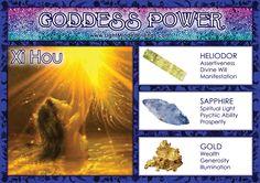 Goddess Power: Xi Hou - Stones: Heliodor, Sapphire and Gold