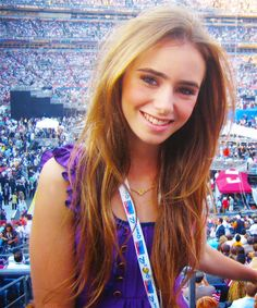 lily collins hair. If I ever went a lighter red-blonde...
