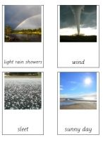 Free printable for cards showwing different types of weather