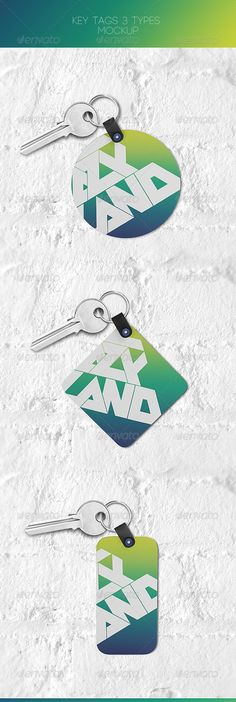 Key Tags Mock-up - Miscellaneous Print