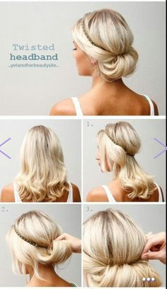DIY party hair