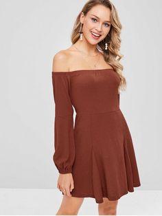 b5e29f9470b5d5 Off Shoulder Long Sleeves Mini Dress