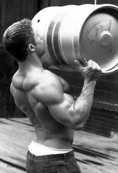 This is the kind of man I want in my life....HAH Jyesh! Throw me over your shoulder like that dam KEG! WOW!