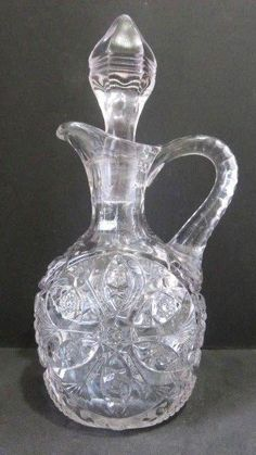 2019 Latest Design Vintage Fenton Blue Coin Dot Pitcher Ruffled Top And 2 Glasses Exc Glass Pottery & Glass