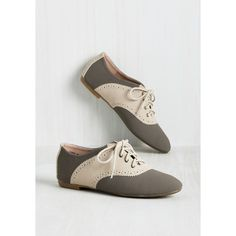 Vintage Inspired, 50s, Colorblocking, Scholastic Academic Excellence... ($35) via Polyvore featuring shoes, perforated flats, vintage looking shoes, perforated oxfords, color block shoes and flat shoes