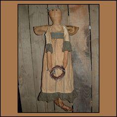 SALE Primitive folk Art snow Angel mailed paper pattern by lazydayzlucy #sale patterns#mailed patterns