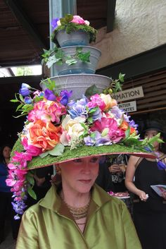 At The Mad Hatter's Tea = @Samantha Hobbs this is one of the hats from the Mad Hatter's Tea. Don't know where it was or what it is, but it looks like fun!