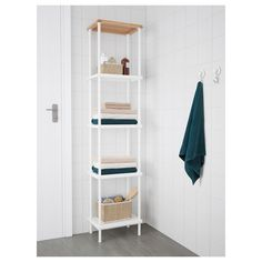 DYNAN Shelving unit with cabinet, white, 15 Tight corners and cramped spaces – almost anything is possible with modular DYNAN series. You can build your storage vertically or horizontally and add on extra shelves to make the most of your space. Modular Shelving, Open Shelving, Hallway Cupboards, Corner Shelf Unit, Linen Cabinets, Personal Storage, Storage Stool, Floor Space, Upcycling