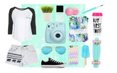 """Pastel Spring"" by alex2211 ❤ liked on Polyvore featuring Nikki Strange, Tee and Cake, Converse, Bando, Casetify, Ray-Ban, Witchery, Dot & Bo, Eos and Spring"