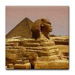 Egypt Pyramid and Sphinx Tile Coaster ($8.50)