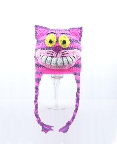 Cheshire cat crochet hat -- Alice in Wonderland