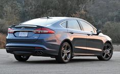 Six years after its last redesign, the 2018 Ford Fusion may be getting old, but it's still very much in the game. Ford Fusion Custom, Fusion Sport, Sedans, Dream Cars, Metallic, College, Architecture, Mini, Vehicles