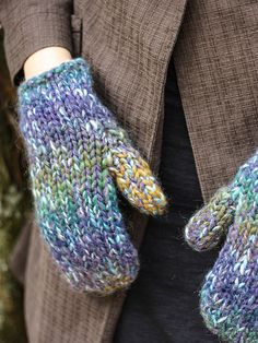 NobleKnits.com - Berroco Mojo Grace Mittens Knitting Pattern