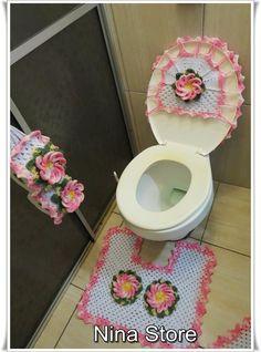 Jogo de Banheiro com mega flor