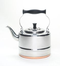 Bonjour Accessories 2 Qt. Polished S/S Copper Bottom Teakettle -