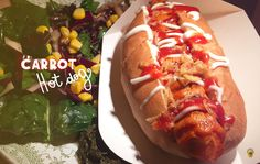 Carrot hot dog vegan - Ossido, Roma
