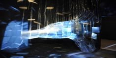 Vortex monochromatique    Etienne Rey. #installation #art #digital