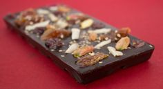 One of Prakash's delicious dark chocolate creations! This is just one of the 5 awesome bars he has created!
