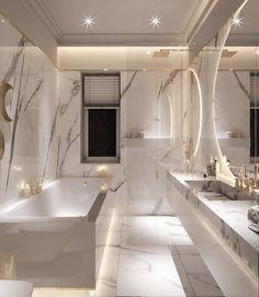 Bathroom Organization by Home Room Design, Dream Home Design, Home Interior Design, Modern House Design, Modern Interior, Bathroom Design Inspiration, Design Ideas, Daily Inspiration, Dream House Interior