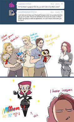 Powerpuff Avengers - Black Widow is not amused.