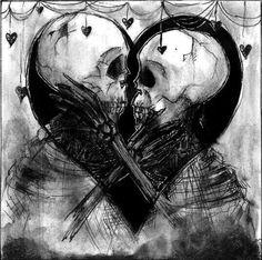 DIY Diamond Embroidery Skeleton lovers Diamond Painting Cross Stitch Mosaic Pattern Full round Rhinestone Home Decor Skeleton Love, Skeleton Art, Skull Tattoos, Body Art Tattoos, Weird Tattoos, La Danse Macabre, Totenkopf Tattoos, Skull Pictures, Geniale Tattoos